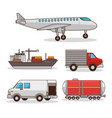 set of means of transportation vector image vector image