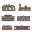 set royal palaceparliament house europe vector image