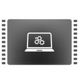 setting parameters laptop icon flat design style vector image vector image