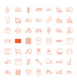 shipping icons vector image vector image