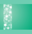 snowflakes ribbon banner christmas or new year vector image