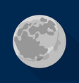 space moon icon flat style vector image