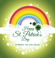 St patricks day card design vector image