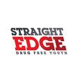 straight edge theme art vector image vector image