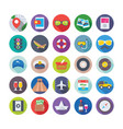 summer and travel icons 4 vector image vector image