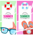 Summertime invite card concept vector image