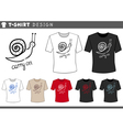 t shirt design with snail vector image