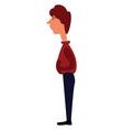 tall guy in red hoodie and blue pants on white vector image