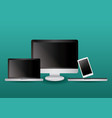 technology devices icons vector image