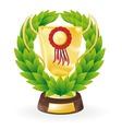 trophy wreath vector image vector image