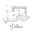 Types of sleeping pillows set vector image vector image
