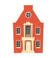 urban retro colonial style building cartoon vector image vector image