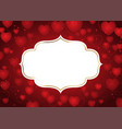 valentines day background with decorative frame vector image vector image