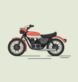 vintage motorcycle flat vector image vector image