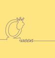 vintage queen silhouette vector image vector image