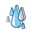 water drops icon vector image vector image