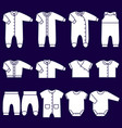 white icons baclothes vector image vector image