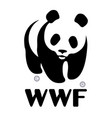 world wildlife fund wwf logo vector image vector image