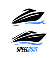 yacht speed boat logo vector image vector image