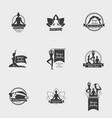 yoga studio symbol set vector image vector image