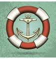 Anchor and Lifebuoy vector image