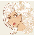 Attractive smiling young woman vector image