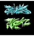 Graffiti lettering on black background Street art vector image
