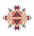aztec print pattern background vector image