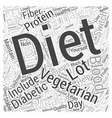 A Diabetic Diet for Vegetarians Word Cloud Concept vector image vector image