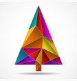 abstract colorful christmas tree from triangles vector image vector image