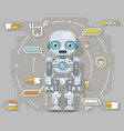 android robot artificial intelligence futuristic vector image vector image