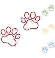 Animal Tracks Set of line icons vector image vector image
