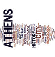 athens a walk on the wild side text background vector image vector image