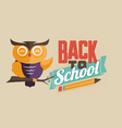 Back to school emblem vector image vector image