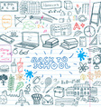 Back to School Supplies Sketchy Notebook Doodles vector image vector image
