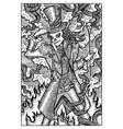 baron samedi engraved fantasy vector image vector image
