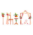 beach wedding decoration with floral arch