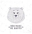 bear cute doodle vector image vector image