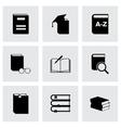 Black schoolbook icon set