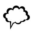 blank onomatopoeia bubble icon image vector image