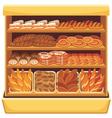 Bread showcase vector image vector image