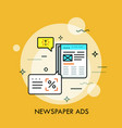 business newspaper with advertisements and speech vector image