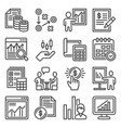 Business plan and planning icons set