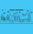 canada mississauga winter holidays skyline merry vector image vector image