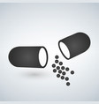 capsule icon painkillers antibiotics vitamins vector image