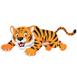 Cartoon tiger jumping vector image