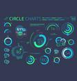 circle charts pie charts donut charts and radial vector image
