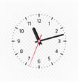clock face mockup vector image vector image
