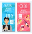 Cocktail Invitations Design Set vector image vector image