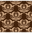 Damask brown seamless floral pattern vector image vector image